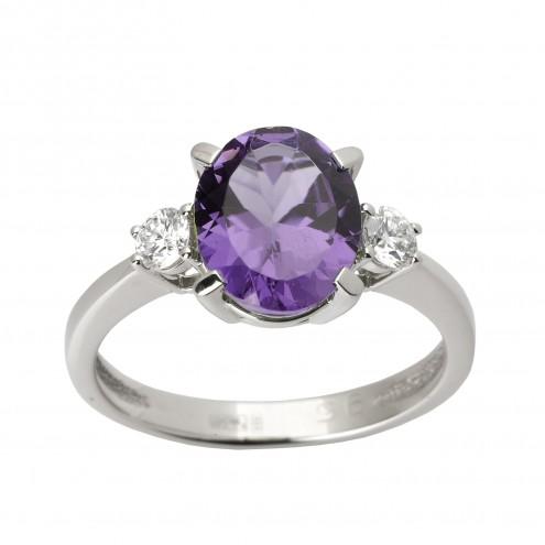 Каблучка з діамантами та кольоровим камінням 981-1253