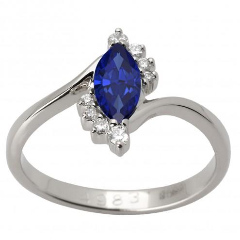 Каблучка з діамантами та кольоровим камінням 981-1379
