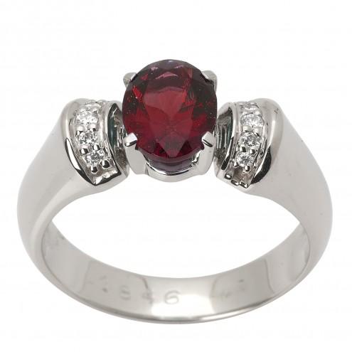 Каблучка з діамантами та кольоровим камінням 981-1530