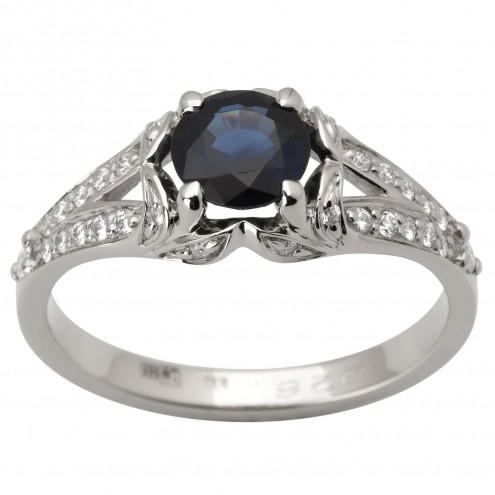 Каблучка з діамантами та кольоровим камінням 981-1781