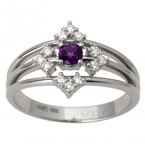 Каблучка з діамантами та кольоровим камінням 981-1801