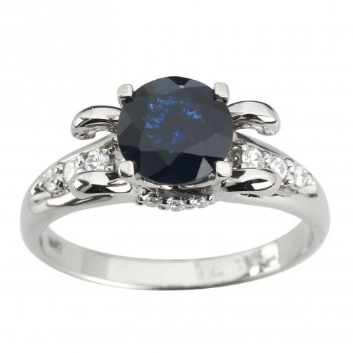 Каблучка з діамантами та кольоровим камінням 981-1927