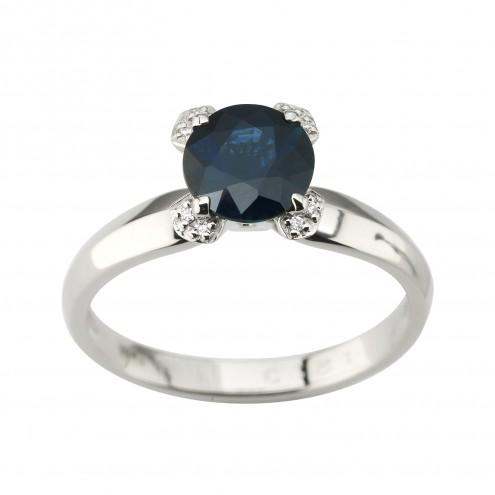 Каблучка з діамантами та кольоровим камінням 981-1950