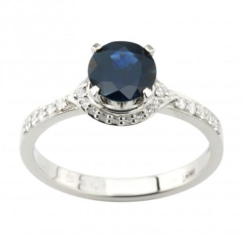 Каблучка з діамантами та кольоровим камінням 981-1955