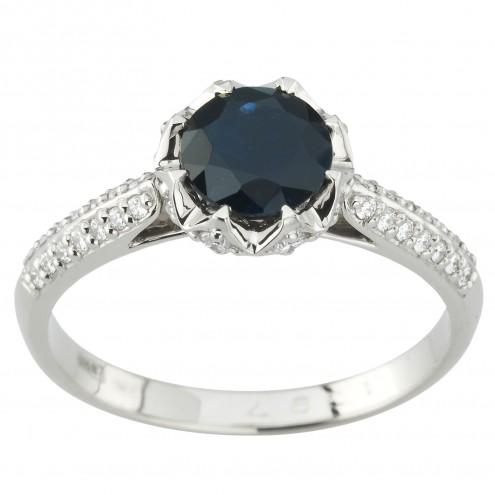 Каблучка з діамантами та кольоровим камінням 981-1968