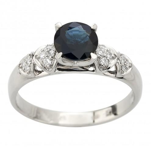 Каблучка з діамантами та кольоровим камінням 981-2099