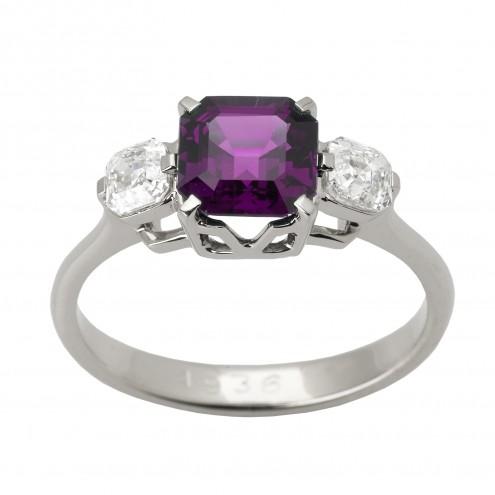 Каблучка з діамантами та кольоровим камінням 981-2231