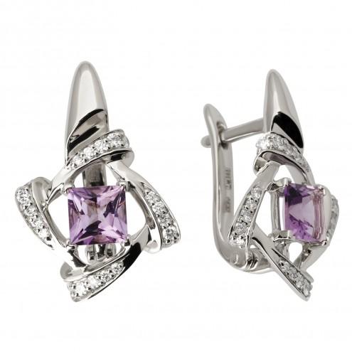 Сережки з діамантами та кольоровим камінням 982-1050