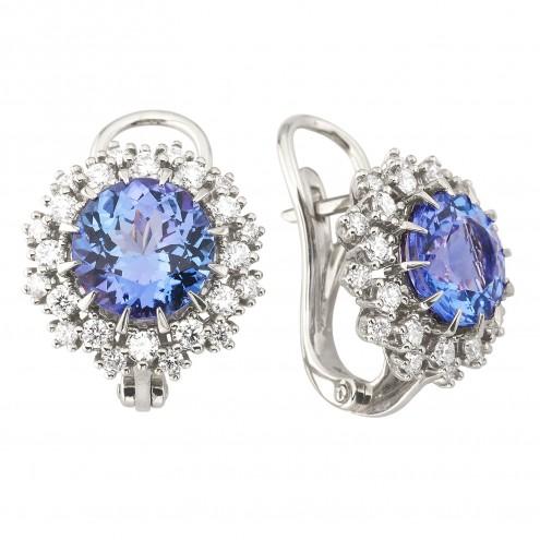 Сережки з діамантами та кольоровим камінням 982-1079
