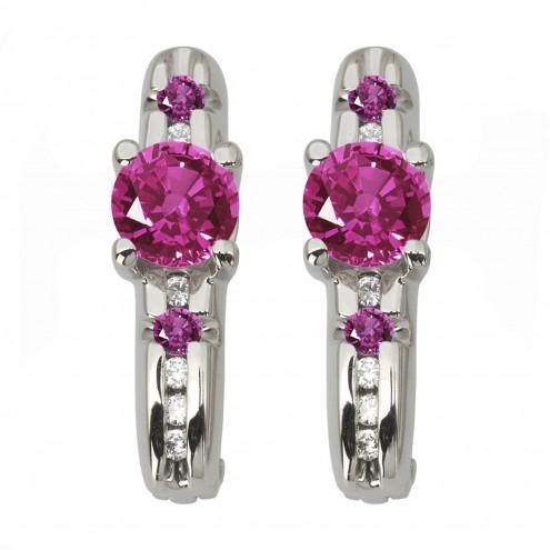 Сережки з діамантами та кольоровим камінням 982-1116