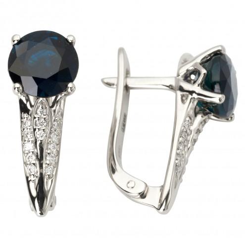 Сережки з діамантами та кольоровим камінням 982-1120
