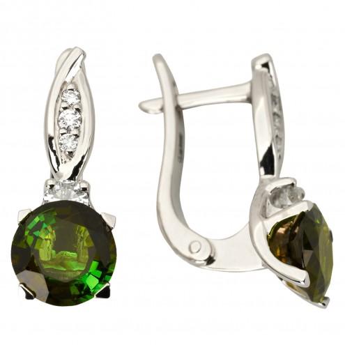 Сережки з діамантами та кольоровим камінням 982-1137