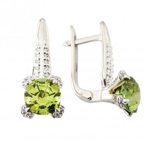Сережки з діамантами та кольоровим камінням 982-1195