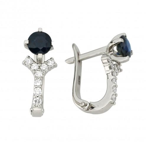 Сережки з діамантами та кольоровим камінням 982-1197