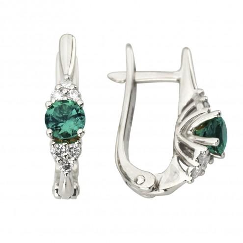 Сережки з діамантами та кольоровим камінням 982-1203