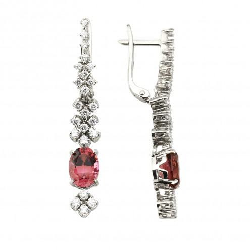 Сережки з діамантами та кольоровим камінням 982-1207