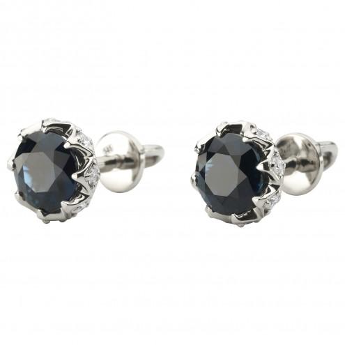 Сережки з діамантами та кольоровим камінням 982-1211
