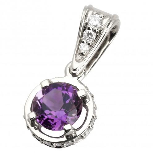 Підвіска з діамантами та кольоровим камінням 989-0561