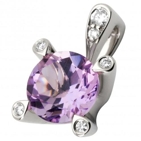 Підвіска з діамантами та кольоровим камінням 989-0571
