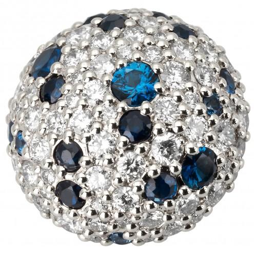 Підвіска з діамантами та кольоровим камінням 989-0736