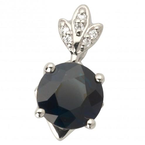 Підвіска з діамантами та кольоровим камінням 989-0794
