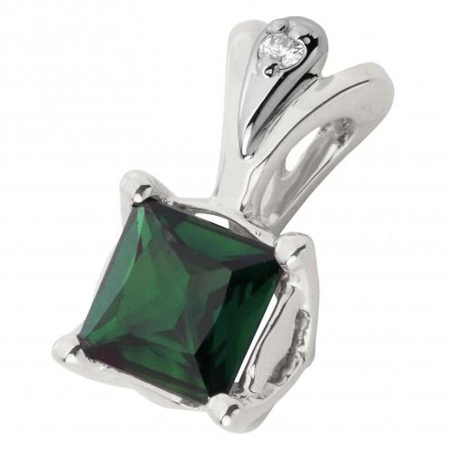 Підвіска з діамантами та кольоровим камінням 989-0808