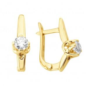Сережки з 1 діамантом 022-0981