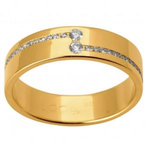 Обручка з декількома діамантами 041-1505