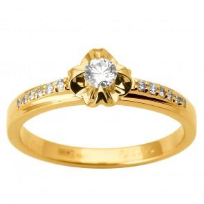 Каблучка з декількома діамантами 041-1806