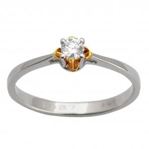 Каблучка з 1 діамантом 321-1615