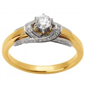 Каблучка з декількома діамантами 341-1509