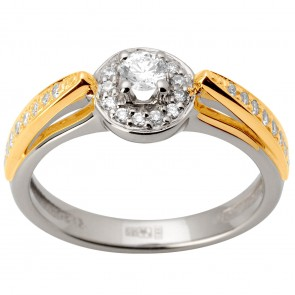 Каблучка з декількома діамантами 341-1638