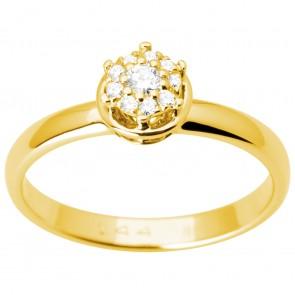 Каблучка з декількома діамантами 341-3003