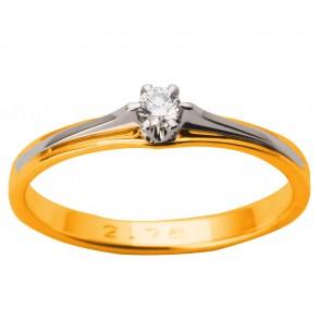Каблучка з 1 діамантом 821-1639