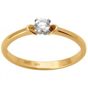 Каблучка з 1 діамантом 821-1784