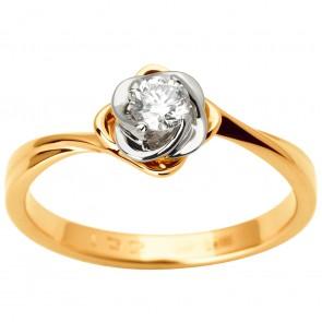 Каблучка з 1 діамантом 821-1852