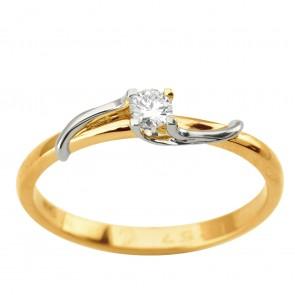 Каблучка з 1 діамантом 821-1957