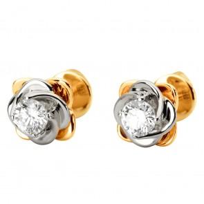 Сережки з 1 діамантом 822-1115
