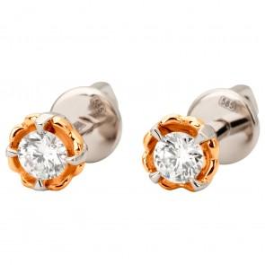 Сережки з 1 діамантом 822-1142