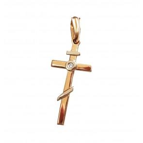 Хрест з 1 діамантом 829-0029