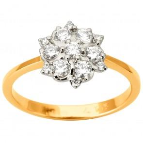 Каблучка з декількома діамантами 841-1876
