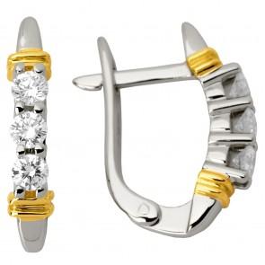 Сережки з декількома діамантами 842-0609