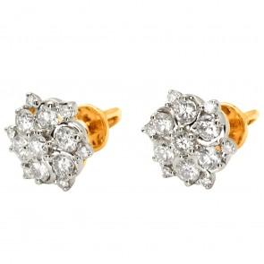 Сережки з декількома діамантами 842-1135