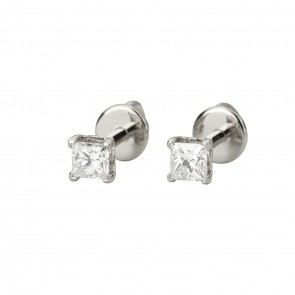 Сережки з 1 діамантом 922-0055