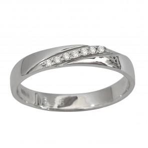 Обручка з декількома діамантами 941-1517