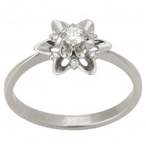 Каблучка з декількома діамантами 941-1573