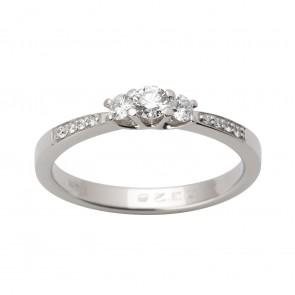 Каблучка з декількома діамантами 941-1640
