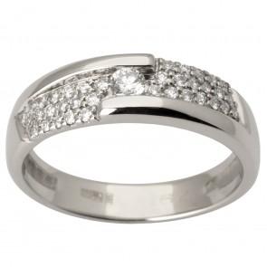 Каблучка з декількома діамантами 941-1681