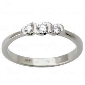 Каблучка з декількома діамантами 941-1816