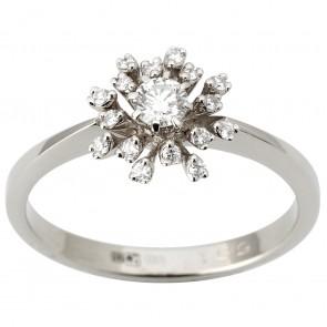 Каблучка з декількома діамантами 941-1822